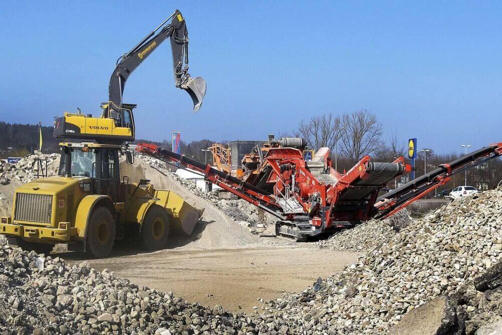 processo de reaproveitamento de resíduos da construção